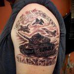 фото военных тату №795 - прикольный вариант рисунка, который хорошо можно использовать для переработки и нанесения как военные тату скорпион