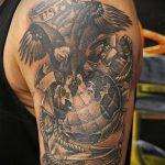 фото военных тату №994 - интересный вариант рисунка, который легко можно использовать для преобразования и нанесения как военные тату скорпион