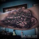 фото военных тату №60 - прикольный вариант рисунка, который удачно можно использовать для переработки и нанесения как военные тату на руке