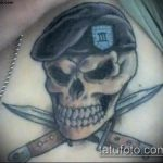 фото военных тату №506 - прикольный вариант рисунка, который удачно можно использовать для преобразования и нанесения как тату военно морского флота