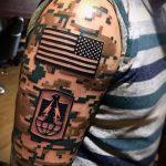 фото военных тату №796 - интересный вариант рисунка, который удачно можно использовать для преобразования и нанесения как тату военно морского флота
