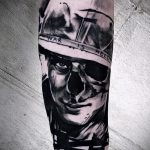 фото военных тату №950 - прикольный вариант рисунка, который успешно можно использовать для доработки и нанесения как тату военная разведка