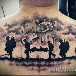 фото военных тату №338 - прикольный вариант рисунка, который успешно можно использовать для доработки и нанесения как военные тату на руке