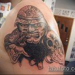 фото военных тату №664 - достойный вариант рисунка, который хорошо можно использовать для переработки и нанесения как военное тату на плече