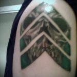 фото военных тату №432 - интересный вариант рисунка, который удачно можно использовать для доработки и нанесения как военное тату на плече