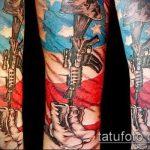 фото военных тату №333 - прикольный вариант рисунка, который успешно можно использовать для переделки и нанесения как тату на военную тему