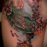 фото военных тату №802 - крутой вариант рисунка, который успешно можно использовать для переделки и нанесения как военные тату на руке