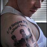фото военных тату №472 - достойный вариант рисунка, который успешно можно использовать для доработки и нанесения как военные тату на руке