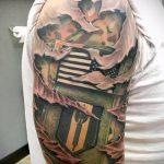 фото военных тату №311 - классный вариант рисунка, который хорошо можно использовать для преобразования и нанесения как военное тату на плече