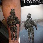 фото военных тату №497 - уникальный вариант рисунка, который успешно можно использовать для доработки и нанесения как тату военная разведка