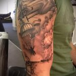 фото военных тату №334 - интересный вариант рисунка, который успешно можно использовать для переделки и нанесения как военно морские тату