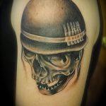 фото военных тату №531 - крутой вариант рисунка, который удачно можно использовать для переделки и нанесения как военное тату на плече