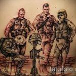 фото военных тату №508 - эксклюзивный вариант рисунка, который удачно можно использовать для переделки и нанесения как тату на военную тему