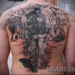 фото военных тату №472 - классный вариант рисунка, который легко можно использовать для доработки и нанесения как тату военно морского флота