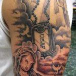 фото военных тату №108 - прикольный вариант рисунка, который легко можно использовать для преобразования и нанесения как тату военная разведка летучая мышь