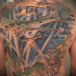 фото военных тату №941 - интересный вариант рисунка, который легко можно использовать для преобразования и нанесения как военно морские тату