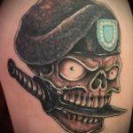 фото военных тату №839 - классный вариант рисунка, который легко можно использовать для преобразования и нанесения как тату на военную тему