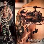 фото военных тату №312 - уникальный вариант рисунка, который успешно можно использовать для преобразования и нанесения как военное тату на плече