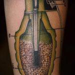 фото военных тату №901 - интересный вариант рисунка, который хорошо можно использовать для переделки и нанесения как военное тату на плече
