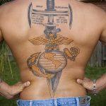 фото военных тату №113 - интересный вариант рисунка, который хорошо можно использовать для переделки и нанесения как тату на военную тему