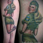фото военных тату №936 - крутой вариант рисунка, который хорошо можно использовать для преобразования и нанесения как тату военная разведка