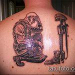 фото военных тату №450 - прикольный вариант рисунка, который легко можно использовать для доработки и нанесения как тату на военную тему