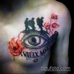 фото военных тату №6 - крутой вариант рисунка, который удачно можно использовать для переделки и нанесения как тату на военную тему