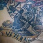 фото военных тату №71 - прикольный вариант рисунка, который успешно можно использовать для переделки и нанесения как военные тату скорпион