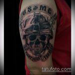 фото военных тату №725 - эксклюзивный вариант рисунка, который легко можно использовать для доработки и нанесения как тату военно морского флота
