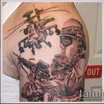фото военных тату №603 - эксклюзивный вариант рисунка, который легко можно использовать для переделки и нанесения как военно морские тату