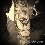 фото тату голубь №356 - интересный вариант рисунка, который хорошо можно использовать для доработки и нанесения как тату белый голубь
