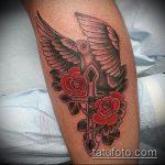 фото тату голубь №295 - эксклюзивный вариант рисунка, который удачно можно использовать для доработки и нанесения как тату на шее голуби