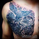 фото тату голубь №474 - интересный вариант рисунка, который хорошо можно использовать для доработки и нанесения как тату голубь с гранатой
