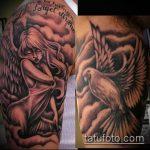 фото тату голубь №75 - достойный вариант рисунка, который легко можно использовать для переделки и нанесения как тату голубь на руке