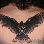 фото тату голубь №521 - уникальный вариант рисунка, который легко можно использовать для переделки и нанесения как тату пара голубей