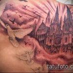 фото тату голубь №530 - классный вариант рисунка, который легко можно использовать для преобразования и нанесения как тату голубь на запястье