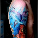 фото тату дельфин №314 - уникальный вариант рисунка, который хорошо можно использовать для преобразования и нанесения как фото тату дельфин на лодыжке