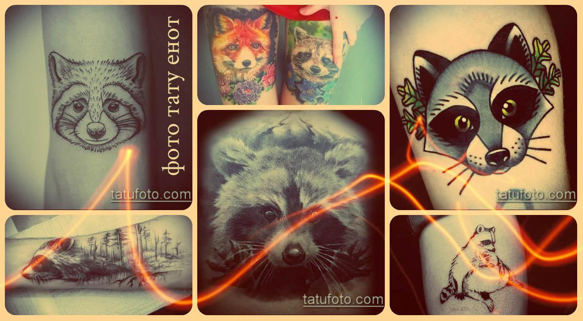 Фото тату енот - крутые варианты готовых татуировок для выбора