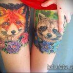 фото тату енот №456 - классный вариант рисунка, который хорошо можно использовать для преобразования и нанесения как тату эскизы енот на плечо