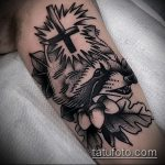 фото тату енот №505 - уникальный вариант рисунка, который удачно можно использовать для преобразования и нанесения как фото тату енота на икре