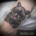 фото тату енот №69 - крутой вариант рисунка, который успешно можно использовать для преобразования и нанесения как тату эскизы енот на плечо