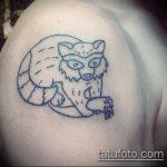 фото тату енот №104 - интересный вариант рисунка, который легко можно использовать для переработки и нанесения как фото тату енота на икре