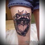 фото тату енот №779 - прикольный вариант рисунка, который легко можно использовать для преобразования и нанесения как тату эскизы енот на плечо