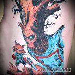 фото тату енот №66 - крутой вариант рисунка, который легко можно использовать для доработки и нанесения как тату эскизы енот на плечо