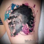 фото тату енот №374 - эксклюзивный вариант рисунка, который удачно можно использовать для доработки и нанесения как фото тату енота на икре