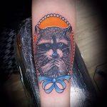 фото тату енот №114 - интересный вариант рисунка, который удачно можно использовать для переделки и нанесения как фото тату енота на икре