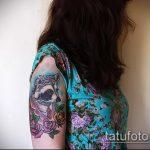 фото тату енот №22 - достойный вариант рисунка, который успешно можно использовать для переделки и нанесения как тату эскизы енот на плечо