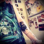 фото тату енот №258 - уникальный вариант рисунка, который хорошо можно использовать для переделки и нанесения как фото тату енота на икре