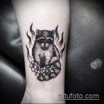 фото тату енот №980 - крутой вариант рисунка, который хорошо можно использовать для переработки и нанесения как тату эскизы енот на плечо