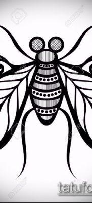 рисунок для татуировки с мухой – вариант
